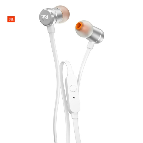 Audífono JBL T290 silver In-Ear headphones one button remote flatcable - JBLT290SIL