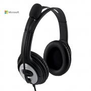 Audífonos Microsoft Con Micrófono Conector USB Almohadilla Acolchada