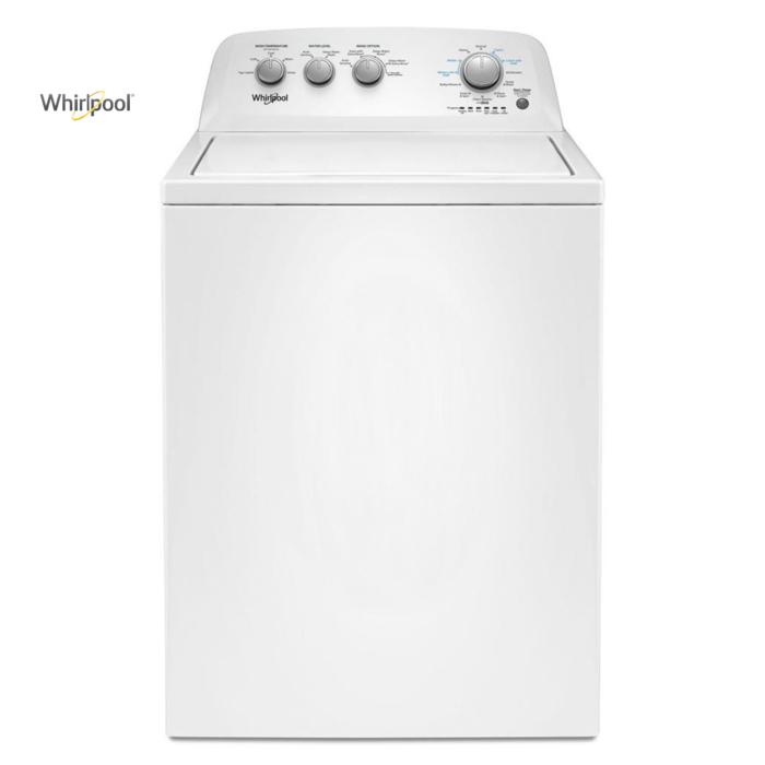 Lavadora blanca de carga